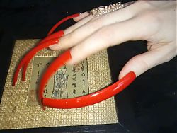 Extreame long nails Lady L (video short version)