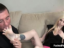 Inked Hottie Sierra Cure Gets Her Feet Sucked On and Fucked!