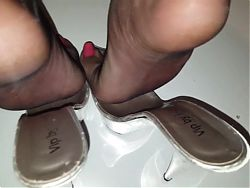 Delicious Sheer Nylon Feet to Adore with painted Nails