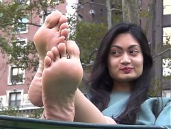Candid sexy soles at park